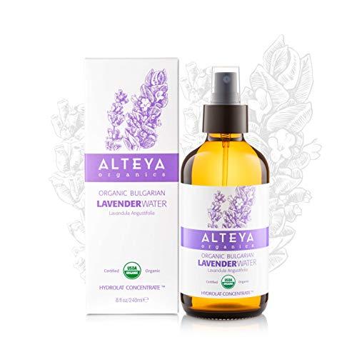 Acqua di Lavanda Alteya Organic - 240ml Spray Bioglass - 100% USDA Certificata Organica Pura Bio...
