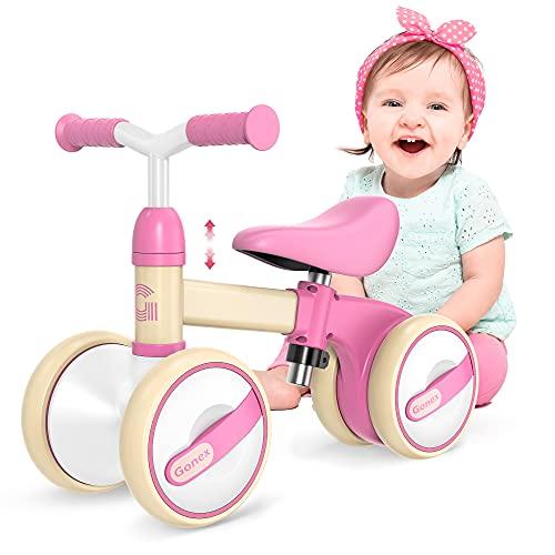 Gonex Bicicletta Senza Pedali Bicicletta Equilibrio Bambino 1 Anno, Bici Senza Pedali Sella Regolabile Bicicletta per Bambino Ragazzi e Ragazze Prima Bici Regalo (10-36 Mesi)