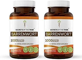 Barrenwort 60 Capsules(2 psc.), 1000 mg, Organic Barrenwort (Horny Goat Weed, Epimedium Grandiflorum) Dried Leaf (2x60 Cap...