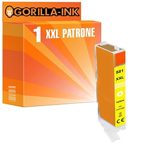 Gorilla-Ink 1 Cartucho de Tinta Compatible con Canon CLI-581 XXL Yellow | para Pixma TS 6351 8120 8150 8151 8152 8220 8240 8241 8242 8250 8251 8252 8350 8351 8352 9150 9155