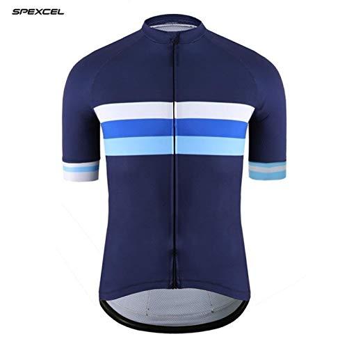 CHFYG - Maillot de ciclismo de manga corta con diseño de rayas...