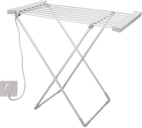 Tendedero eléctrico de 8 barras, con calefacción eléctrica, ahorra energía y secado rápido, plegable, para fácil almacenamiento, toallas, ropa de cama