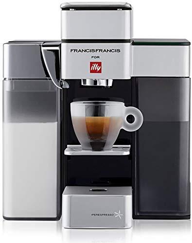 Illy FrancisFrancis! Y5 Milk 60231 Kapselmaschine Iperespresso - Kaffeemaschine mit Milchaufschäumer - Espresso & Kaffee - 0,9 L - 1250 W - Weiß