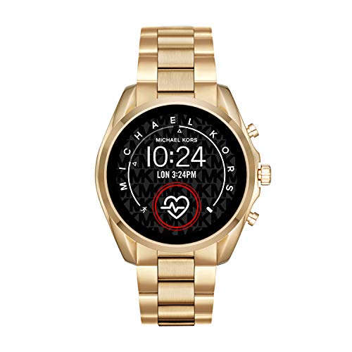 Michael Kors Access MKT5085 Smartwatch Michael Kors Dama, Extensible Acero Color Dorado, Caja Color Dorado, Multifuncion for Accesorios, Oro, Mujer Estándar