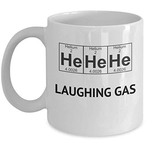 N\A Chemiebecher Er Helium Lachgas Lustiger Wissenschaftler Periodensystem Tasse Kaffee Tee Tasse
