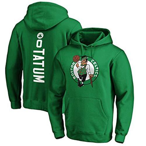 Jayson Tatum #0 - Sudadera de baloncesto para hombre, diseño de Boston Celtics con capucha, informal, con logotipo, cómodo, suave, cálido, verde