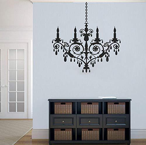 Decalcomanie da muro lampadario di cristallo europeo soggiorno camera da letto complementi arredo casa adesivi murali in vinile monocolore moderni rimovibili 42x43cm