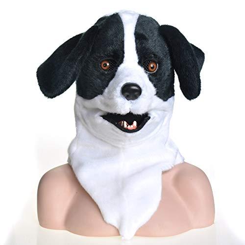 WINPSHENG-Maske für Erwachsene Gesamter Kopf Brute bewegt Mouth Cosplay Karneval Kostüm Hund Bleach Animalmasks Zum Verkauf (Color : Black)