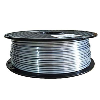 Silk Silver PLA Filament 2.85 mm / 3 mm 3D Printer Filament Shiny Shine Silky PLA 1KG 2.2 LBS 3D Printing Material Metal Like Gun Grey CC3D