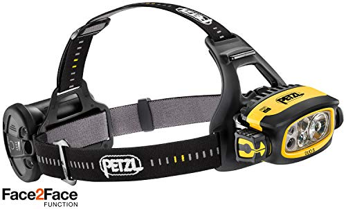 Petzl LED Stirnlampe Duo S Schwarz Gelb (Linterna con Cinta para Cabeza), Marron y Verde