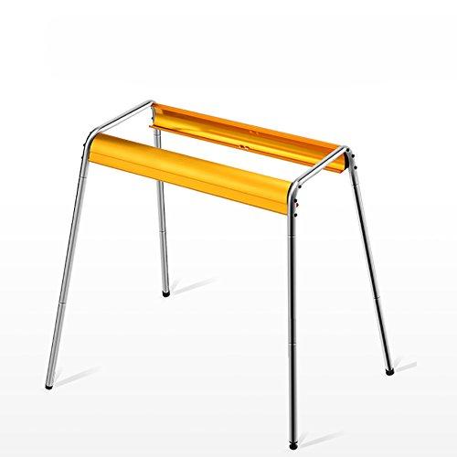 YUMUO Tragbare klappbarer kohlegrill, Edelstahl Anti-heiß Gegrillte net Partei Grill Abkochen BBQ Für Camping Wandern-golden 64x35x81cm(25x14x32inch)