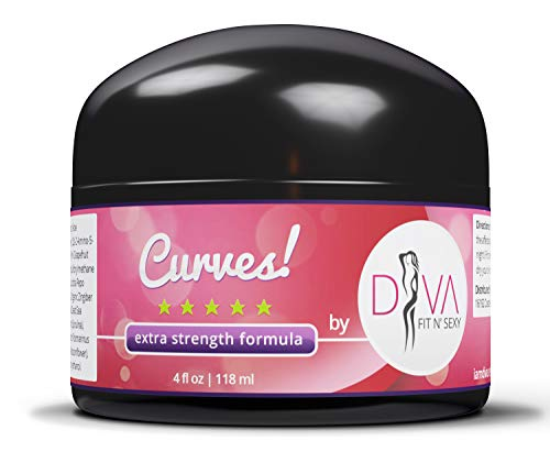 Curves Butt Enlargement Cream by Diva Health and Nutrition - Fast and Effective Enhancement Product for Women and Men That Works!
