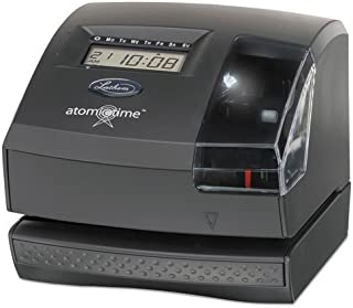 Lathem Time 1600E 1600E Wireless Atomic Time Recorder with Tru-Align Feature, Dark Gray