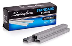 RELIABLE PERFORMANCE – Swingline staples set a higher standard for reliable performance over comparable staples. Convenient staples help you stay organized. CHISEL POINT FOR FEWER JAMS – Sturdy staples are constructed to quickly pierce paper with sha...