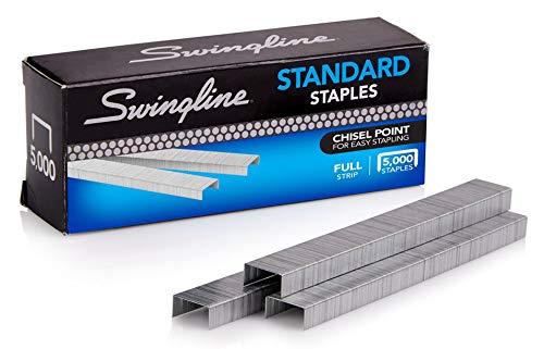Swingline Staples, Standard, 1/4 Length, 210/Strip, 5000/Box, 10 Pack (35111) Packaging may vary