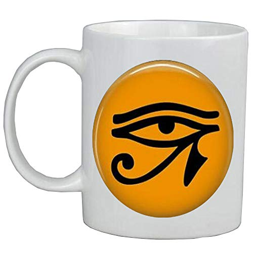 Taza de café con diseño de ojo egipcio de Ra – Egipto Religion-Cleopatra Jewelry,AS0266