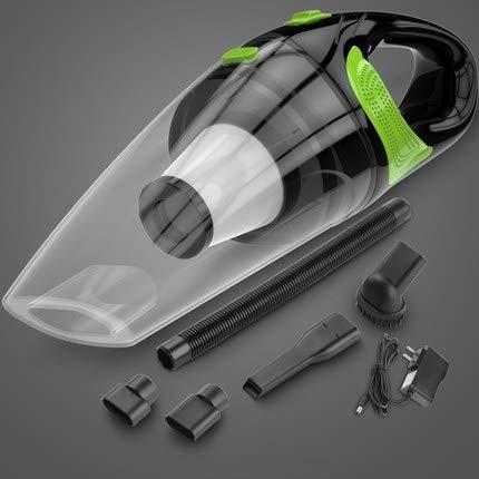 Productos domésticos MMGZ Hilos del Coche Aspirador de Mano Mini Aspirador de Gran succión húmedos y Secos de Doble Uso del Aspirador portátil (Transparente + Verde)