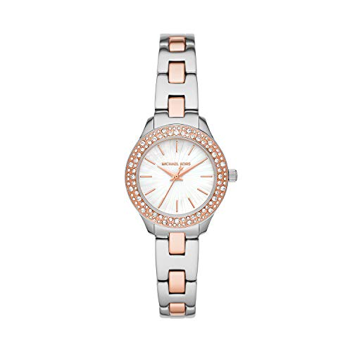 Michael Kors Women's Quartz Watch with Stainless Steel Strap, Two-Tone, 12...