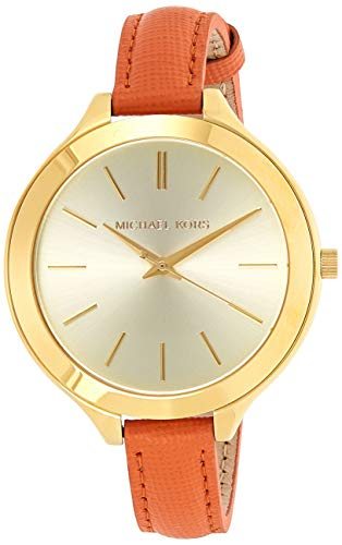 Michael Kors Slim Runway Orange Leather Strap Women