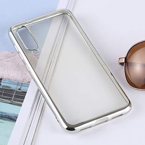 EASON Caso -Ultra-Delgada de galvanoplastia TPU de protección Cubierta Posterior for Xiaomi MI 9 SE (Plata) Cubierta de teléfono (Color : Dark Blue)