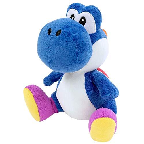 "Little Buddy 1388 Super Mario Bros All Star Collection Dark Blue Yoshi Stuffed Plush, 7"""