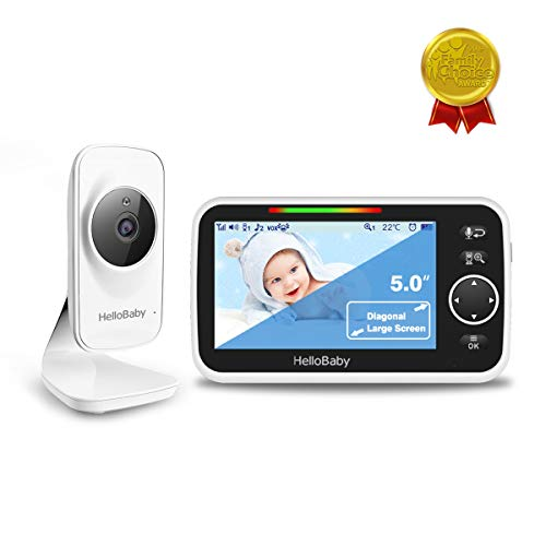 """Hello Baby Monitor, Baby Monitor with Camera and Audio, 5"""" Large Display Video Baby Monitor 