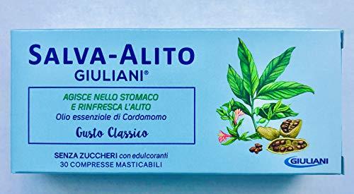 Salva-Alito Giuliani 30 Compresse - Rimedi per l'alito cattivo o alitosi, rinfrescare l'alito, agendo direttamente nello stomaco.