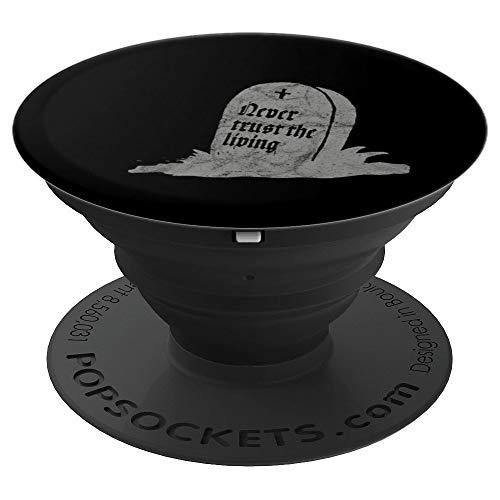 Gothic Tombstone Never Trust The Living Occult Death Vintage PopSockets Agarre y Soporte para Teléfonos y Tabletas