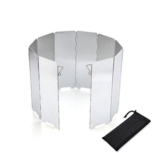 BrilliantDay Pare-Vent de Camping Pliable en Alliage d'aluminium pour Réchaud de Camping (10pcs, 82x24 cm)