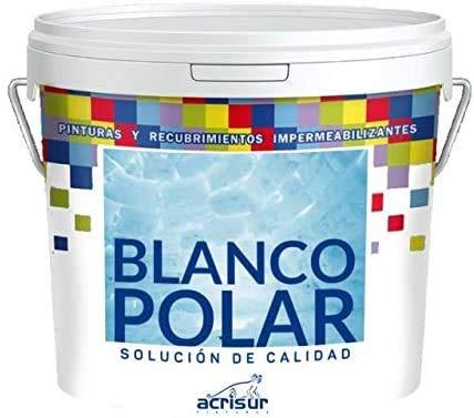 BLANCO POLAR PINTURA PLASTICA PARA INTERIOR Y EXTERIOR 4 LIT
