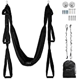 UpCircleSeven Aerial Yoga Swing Set Ceiling Mount Accessories, Black