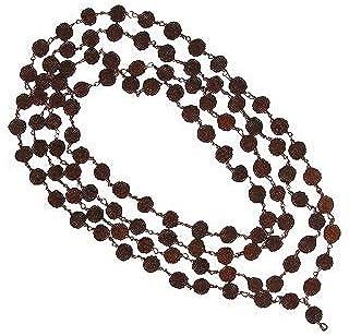 Lakshmi Puja Stores Copper Rudraksha Mala 108 Beads For Men And Women
