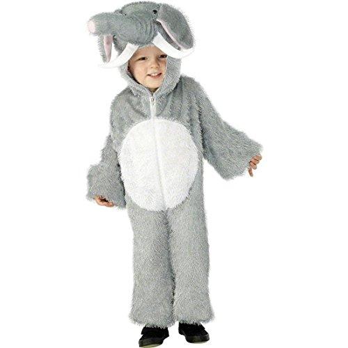 Costume elefante per bimbo costume carnevale travestimento elefante abito carnevale animali - 116 -128 cm 4-6 anni