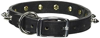 Enjoying Pet Croco Leather Collars Dog Cool Collar Puppy Doggie Spiked Collar Black -Small
