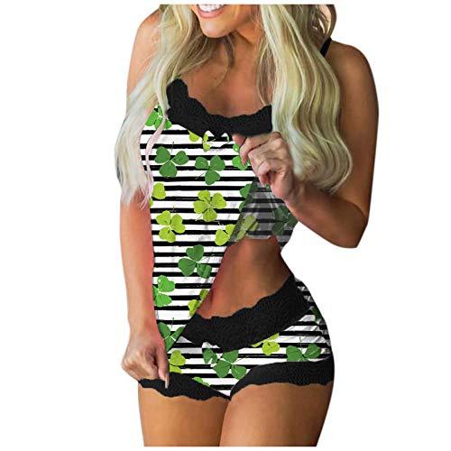 LAIYIFA Conjunto de pijama de encaje sexy para mujer, conjunto de pijama mullido para mujer, suelto, cómodo, para cuatro estaciones, ropa de noche para niñas, regalo nocturno