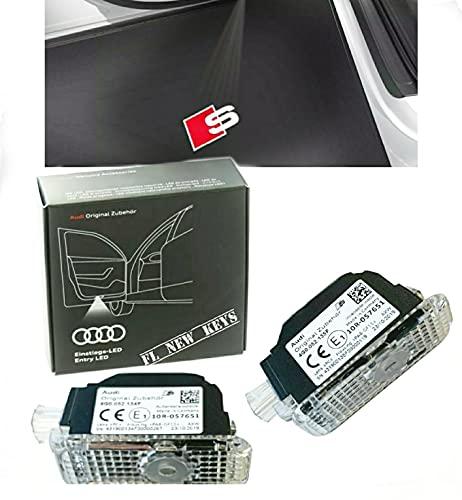 Audi 4G0052133J Proiettore LED con Logo S a Rombi, Illuminazione d'ingresso, Colore Rosso/Bianco