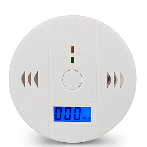 一酸化炭素検出器のアラーム、COのガスセンサーの検出器デジタル表示付き目覚まし時計の警告(3単三電池は...