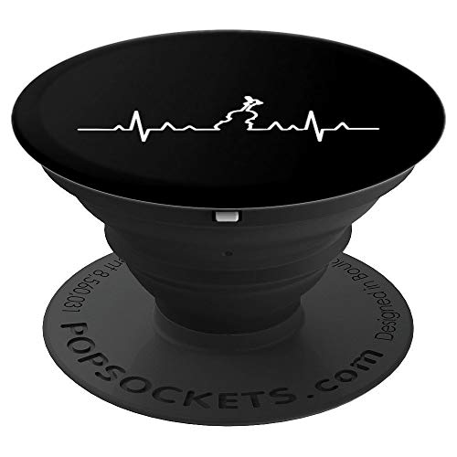 Heartbeat String Instrument Cello Music Violin PopSockets Grip and Stand for Phones and Tablets