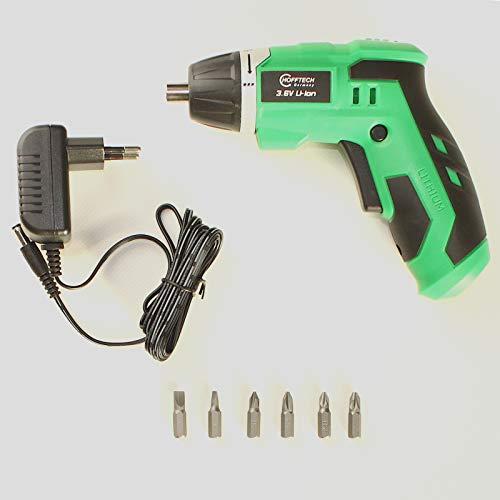 Akku-Schrauber Schraubendreher 3,6V Lithium-Ion Mini Bohrschrauber inkl. Bitset