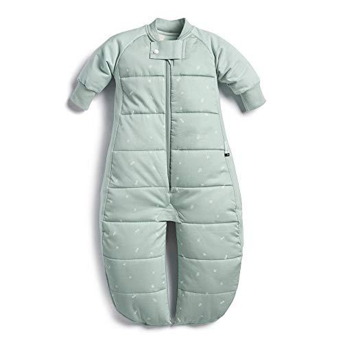 ergoPouch 2,5 TOG Schlafanzug, 100 % Bio-Baumwolle, Füllung mit Baumwollärmeln und Fäustlingen 2-in-1 tragbarer Deckenschlafsack verwandelt sich in einen Schlafanzug mit Beinen (Salbei, 2-4 Jahre)
