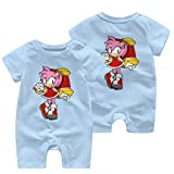 NOT Sonic The Hedgehog Amy Rose Infant Romper Warm Baby Jersey Creeper Bodysuit Onesies