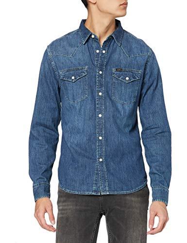Lee Western Manches longues classique Chemise Slim Fit Homme Bleu - Blue Stance Small