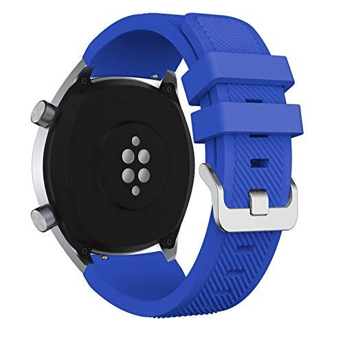 LWHAMA Lwwhama Banda de Reloj de Silicona de 22 mm para Huawei para Honor Magic Watch 2 Sport Reemplazo de Relojes para Huami Ambashit Stratos 3 Correa Correa de Reloj