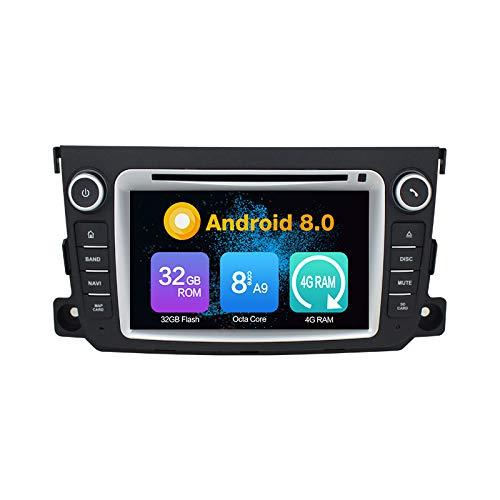 Android 10.0 Stéréo DVD 4G Ram 64G Rom Autoradio GPS La Navigation Radio PourBENZ Smart 2012-2015