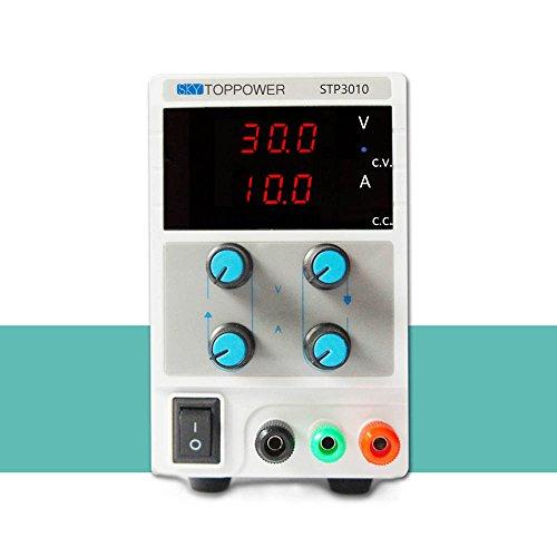 KKmoon0-30V 0-10A Mini Fuente de Alimentación Regulado Laboratorio Digital DC Ajustable Salida de Tensión Actual STP3003 EU Plug