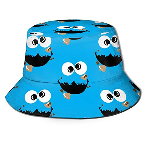 Cookie Monster Bucket Hat Unisex Sun Hat Printed Fisherman Packable Travel Hat Fashion Outdoor Hat