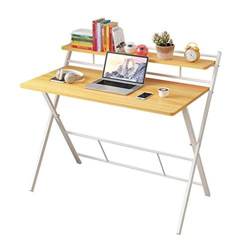 JXJ Klappbarer Computertisch MDF Tragbare Arbeitsstation Studiertisch Wohnzimmer Schlafzimmermöbel Laptop Tisch Walnuss Farbe-B