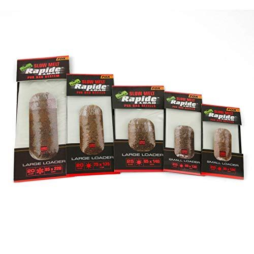 FOX Edges Rapide Refills Slow Melt - PVA Beutel zum Anfüttern, wasserlösliche Taschen für Grundfutter, Futterbeutel zum Angeln, Größe/Packungsinhalt:85x140mm - 25 Stück