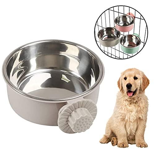 buycheapDG(JP) 犬用ボウル 吊り下げ式 1個 ステンレス製 固定式犬用ボウル ペット用ボウル 飲食用噴水 猫、犬、鳥、マウスに適しています ゲージ用 転倒防止 ペット食器 取り外し可能 s/m/l