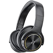 Cystereo Active Noise Cancelling Headphones Wireless Bluetooth Headphones with 40dB Noise Reduction, 40H Playtime, aptX HD, Hi-Res Audio, Fast Charge, Deep Bass, Protein Earpads, 5 Built-in Mics